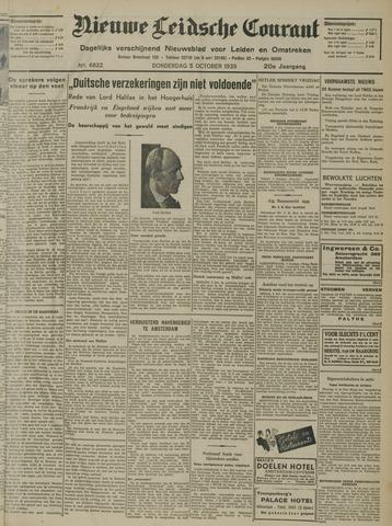 Nieuwe Leidsche Courant 1939-10-05