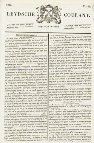 Leydse Courant 1855-10-26