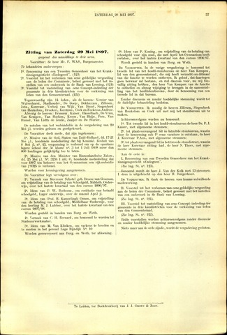 Handelingen van de Raad 1897-05-29