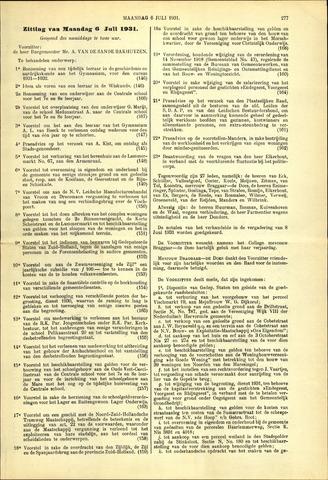 Handelingen van de Raad 1931-07-06