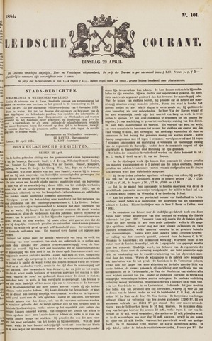 Leydse Courant 1884-04-29