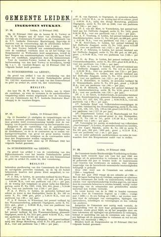Handelingen van de Raad 1942-02-12