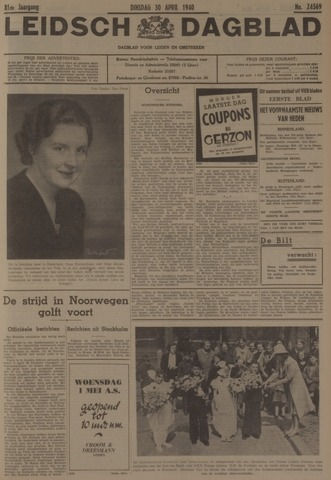 Leidsch Dagblad 1940-04-30