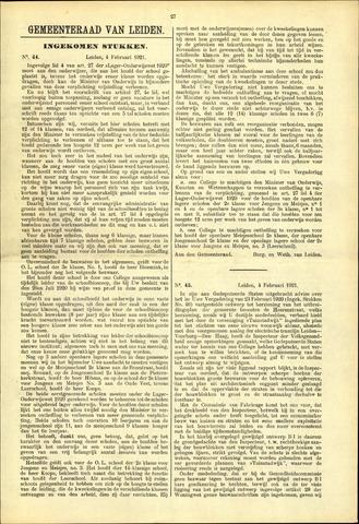 Handelingen van de Raad 1921-02-04