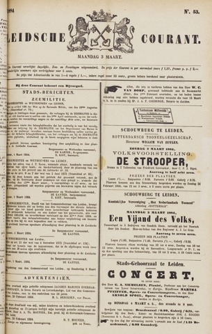 Leydse Courant 1884-03-03
