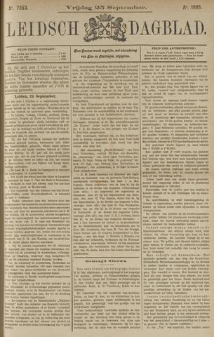 Leidsch Dagblad 1885-09-25