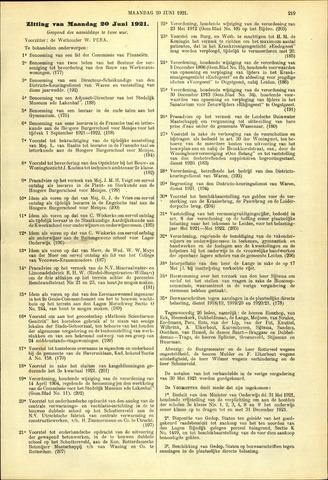 Handelingen van de Raad 1921-06-20