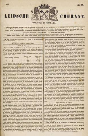 Leydse Courant 1873-02-26