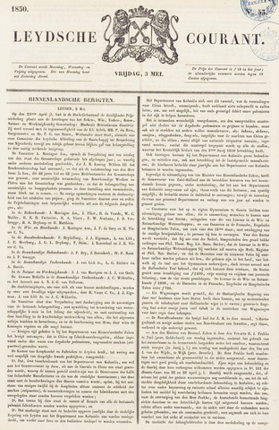 Leydse Courant 1850-05-03