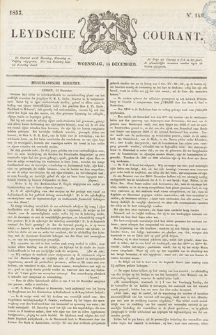 Leydse Courant 1853-12-14
