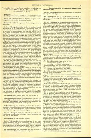 Handelingen van de Raad 1935-01-22