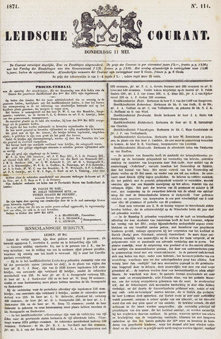 Leydse Courant 1871-05-11