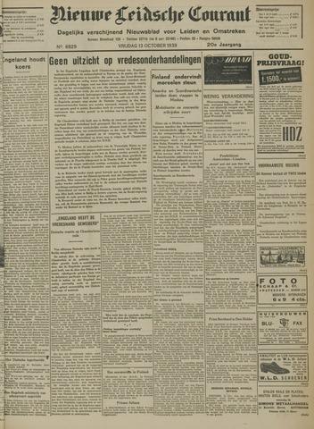 Nieuwe Leidsche Courant 1939-10-13
