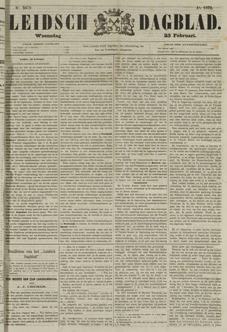 Leidsch Dagblad 1870-02-23