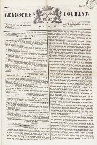 Leydse Courant 1865-07-14