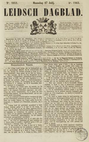 Leidsch Dagblad 1863-07-27