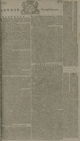 Leydse Courant 1744-03-13