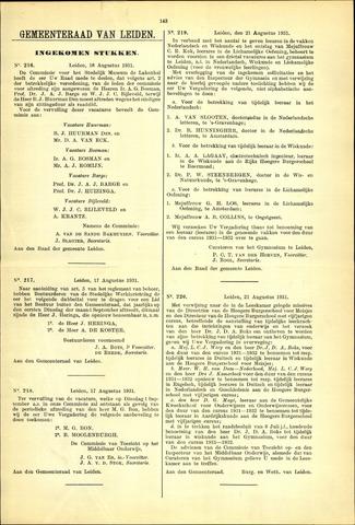 Handelingen van de Raad 1931-08-16