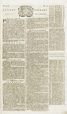 Leydse Courant 1819-02-10
