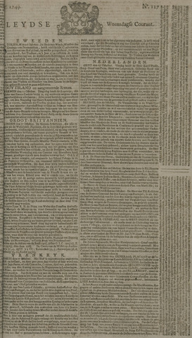 Leydse Courant 1749-10-22