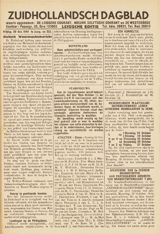 Zuidhollandsch Dagblad 1944-10-20