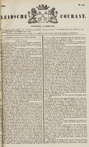 Leydse Courant 1885-02-18