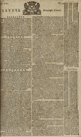 Leydse Courant 1751-02-01