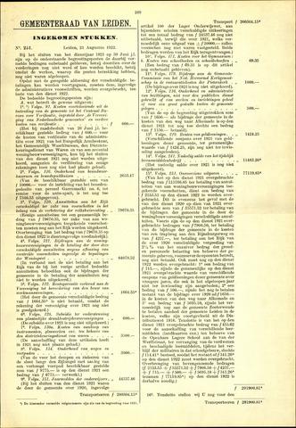 Handelingen van de Raad 1922-08-21
