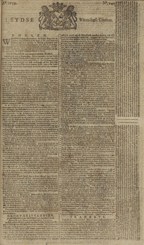 Leydse Courant 1759-11-21