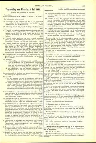 Handelingen van de Raad 1934-07-09