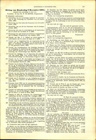 Handelingen van de Raad 1904-12-08
