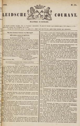 Leydse Courant 1884-01-14