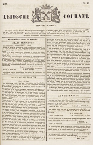 Leydse Courant 1875-03-30