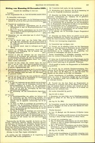 Handelingen van de Raad 1928-11-19