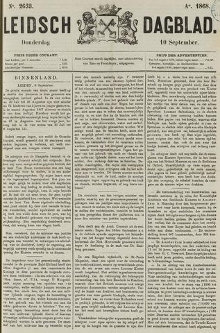 Leidsch Dagblad 1868-09-10