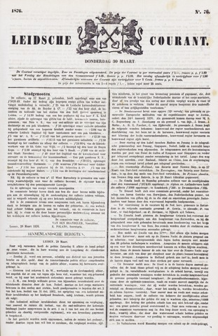 Leydse Courant 1876-03-30
