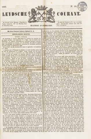Leydse Courant 1862-02-10