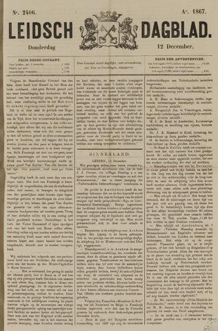 Leidsch Dagblad 1867-12-12