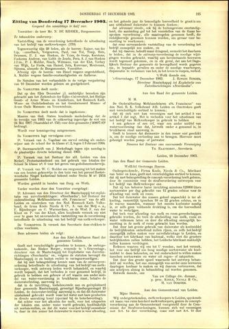 Handelingen van de Raad 1903-12-17