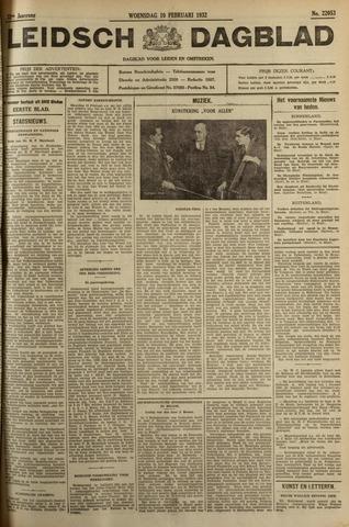 Leidsch Dagblad 1932-02-10