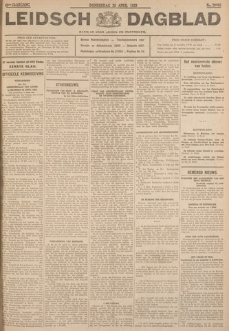 Leidsch Dagblad 1928-04-26