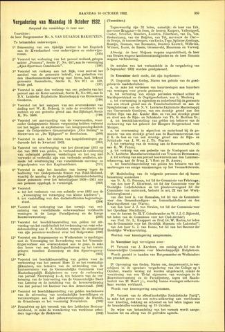 Handelingen van de Raad 1932-10-10