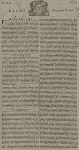 Leydse Courant 1740-03-09