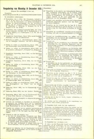 Handelingen van de Raad 1933-12-18