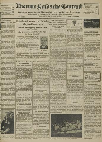 Nieuwe Leidsche Courant 1939-10-25