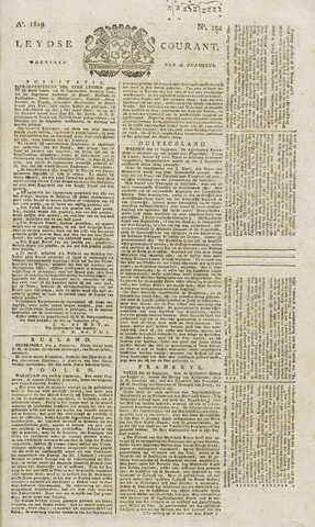 Leydse Courant 1819-08-25