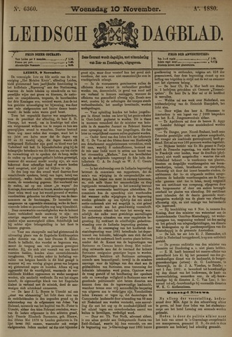 Leidsch Dagblad 1880-11-10