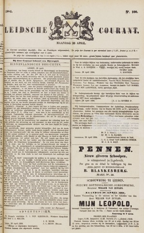 Leydse Courant 1884-04-28