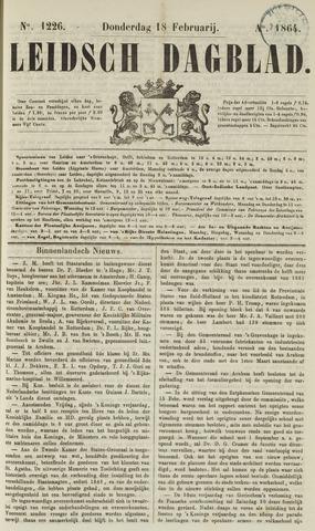 Leidsch Dagblad 1864-02-18