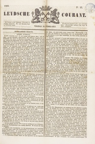Leydse Courant 1862-02-21